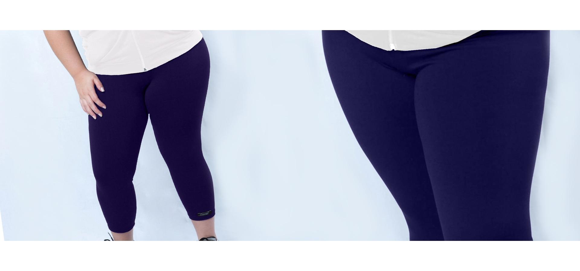 Legging fitness básica plus size-Marinho
