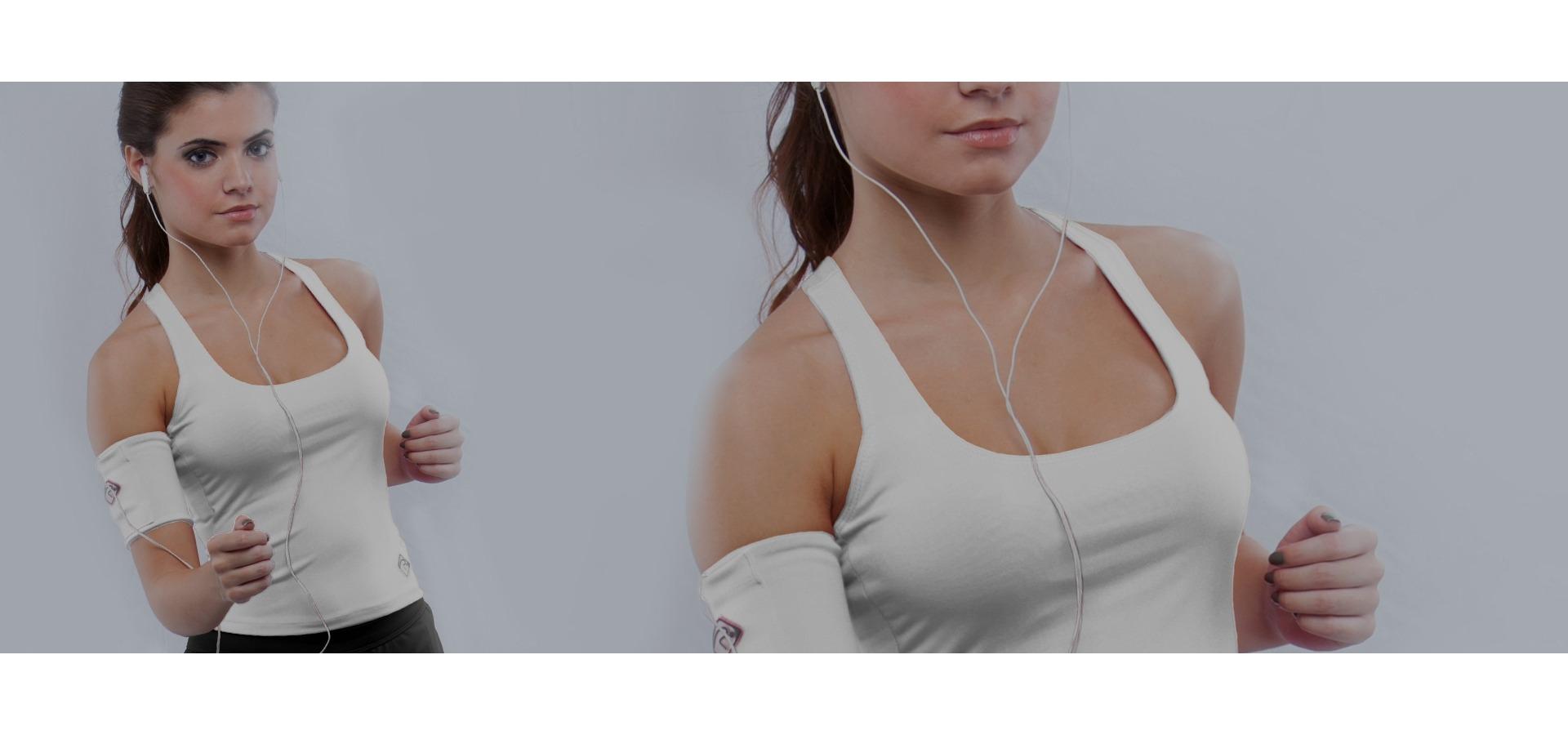 Regata fitness alça cruzada-Branco