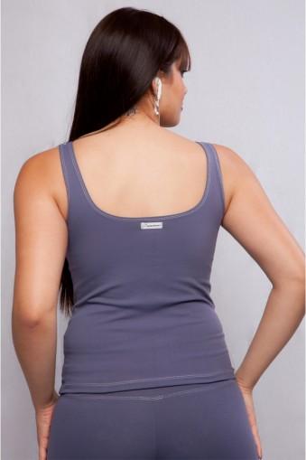 Blusa fitness com recortes-Cinza
