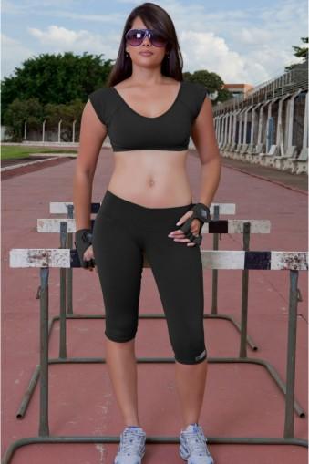 Legging fitness lisa básica-Preto