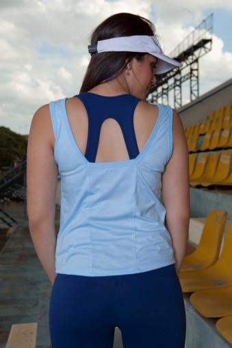 Regata fitness básica-Azul