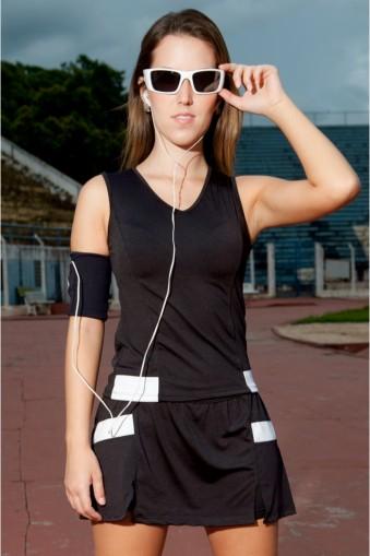 Regata fitness com recorte-Preto