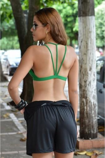 Top bojo com tirinhas-Verde