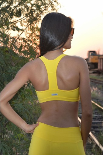 Top nadador com tirinhas-Amarelo