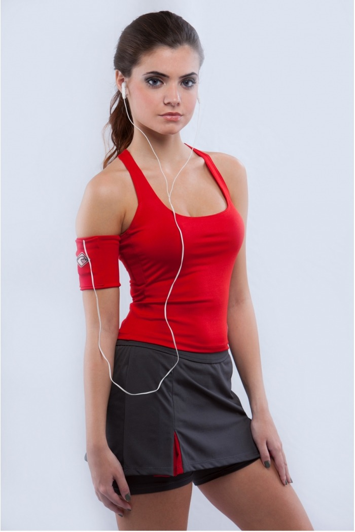 Regata fitness alça cruzada-Vermelho