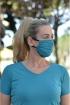 Máscara Adulto em Poliamida Lavável  dupla proteção-Verde/preto